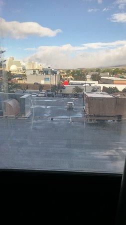 Outside room window