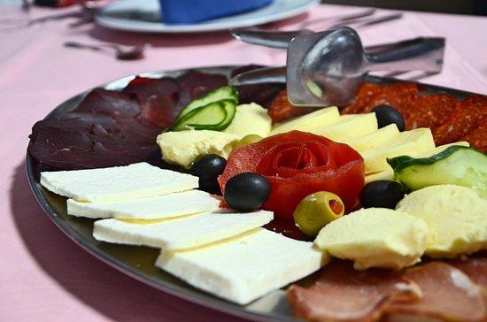 Sutjeska National Park, Bosna i Hercegovina: Appetizers of Hotel Mladost.