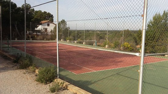 Our private tennis court