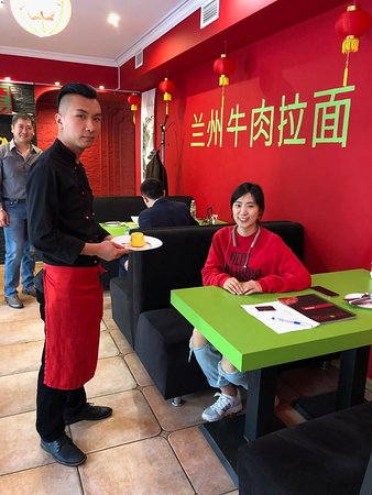 Our cook with regular customer