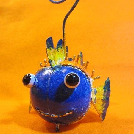 ブリキのハリセンボン・カードホルダー  tin balloon fish card holder #ハリセンボン #balloonfish  #大阪 #梅田 #中崎町 #動物 #動物雑貨 #osaka #umeda #nakazakicho #animalfigure