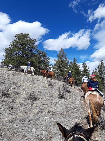 All year round...Horse back riding in the mountains of Colorado West of Colorado Springs 50 mins off of highway 24...cabins, camping, RV sites, chuck wagon dinner dances