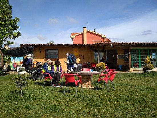 Villarmentero de Campos, Hiszpania: peregrinos