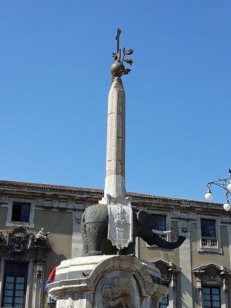 Particolare dell'Elefante e dell'obelisco