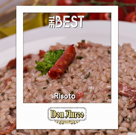 Don Aureo Forneria: Quem aí também é apaixonado por Risoto? 🍝  O risoto é um clássico da cozinha italiana, apreciado em todo o mundo por sua versatilidade e está ganhando cada vez mais o gosto do brasileiro. 🍴 