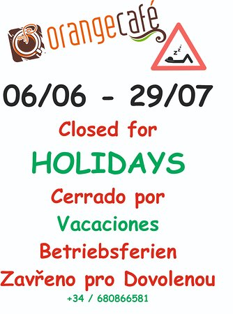 Orange Cafe: Holidays