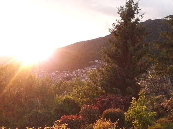 Una parte di Lumezzane al tramonto