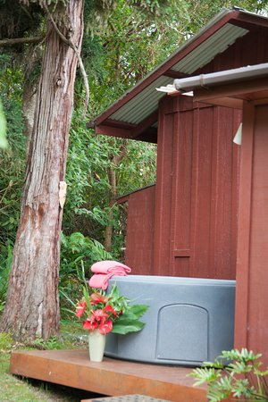 A private Hot Tub for our guests to use in a private garden setting.