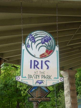 Iris at the Basin Park: Sign