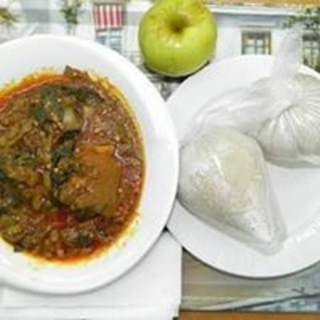 Northern Region, Ghana: Tz with Ayoyo stew