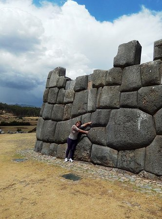 The second platform of the Sacsayhuaman temple. Sacsayhuaman is an archaeological complex located 2 km north of the main square of the city of Cusco. It is located at 3700 meters. It is the highest part of the city of Cusco.