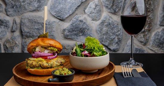 Another shot of our Vegan burger