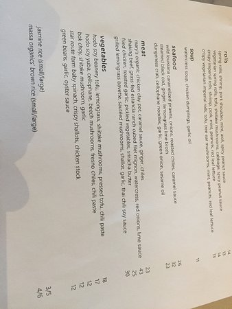Menu - Picture of Out the Door, San Francisco - TripAdvisor
