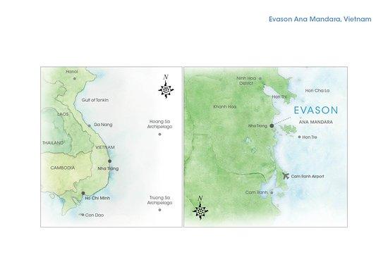 Evason Ana Mandara Nha Trang: Map