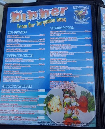 Menu - lunch - Picture of Lily's Treasure Chest, San Pedro - TripAdvisor