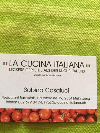 Meinisberg, Szwajcaria: Restaurant&Pizzeria Baselstab La Cucina Italiana  Lecker  Gerichte aus Italia Herzlich Willkommen