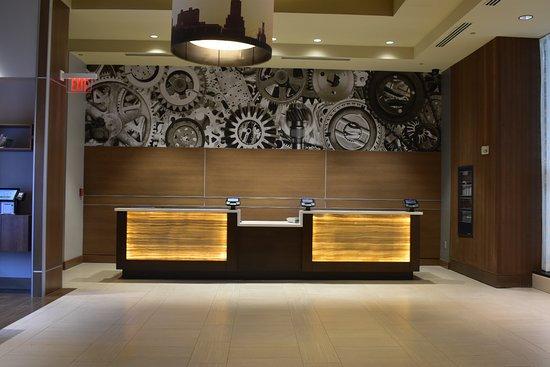 New lobby front desk