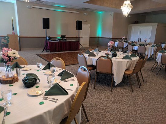 We have the perfect venue for wedding receptions. Our room holds 40-150 guests. For information on our banquet facility email Nicole at nicole.rockefellers@live.com