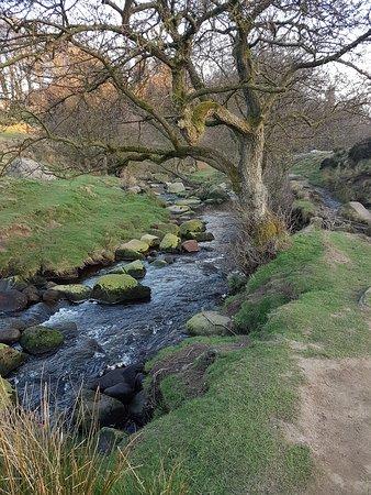 Hope Valley, UK: Down Padley Gorge