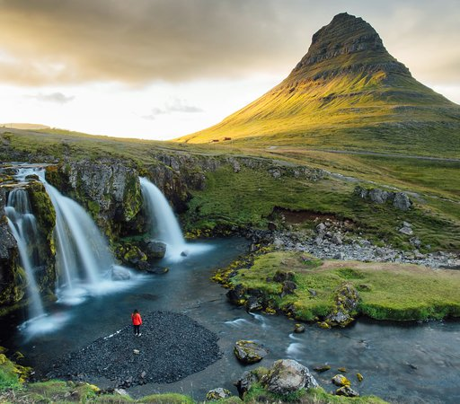 Island: One of the most stunning waterfalls.