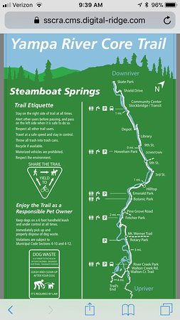 Map - Picture of Yampa River Core Trail, Steamboat Springs ...