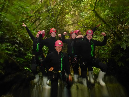 Waitomo Adventures: As we excited the cave.