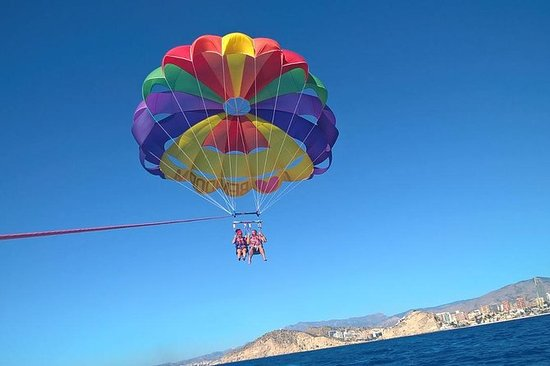 Enjoy your parasailing flight in...