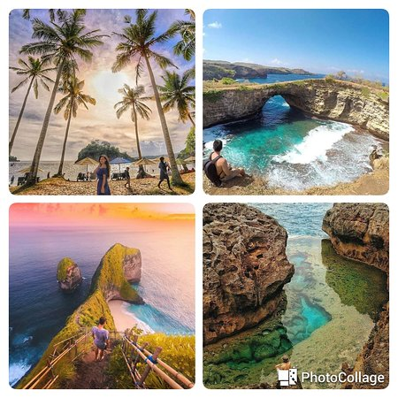 please visit the small island in Nusa Penida with a very cool and beautiful panorama
