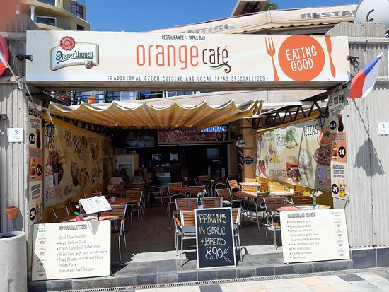 Orange Cafe: Front view