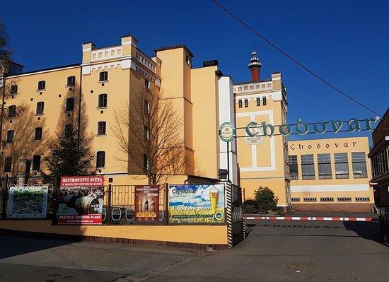 Chodova Plana, Τσεχική Δημοκρατία: Pivovar Chodovar (въезд с шоссе)
