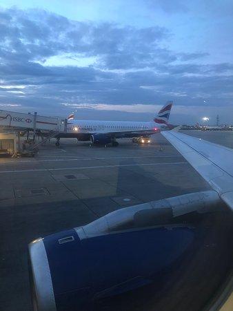 British Airways: Pushback from gate.
