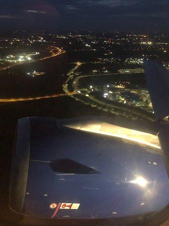 British Airways: View of Heathrow after takeoff.