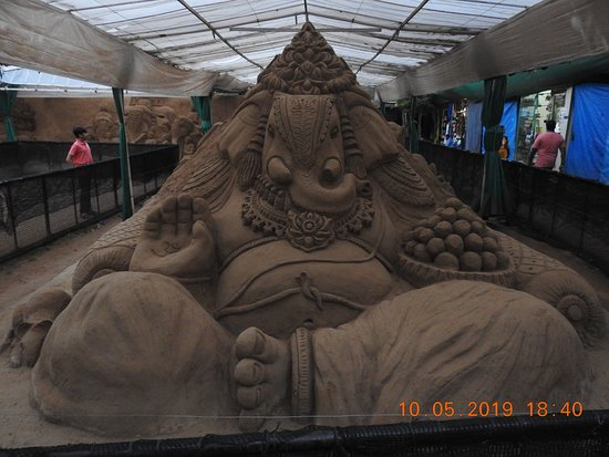 Various sand art works on display @ Mysore Sand Sculpture Museum