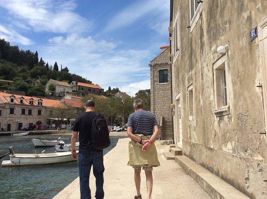 Elaphite Islands Karaka Cruise from Dubrovnik with Buffet Lunch and Snorkeling: Walking around island