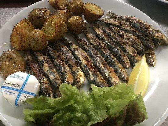 Le Retro: Sardines grillées et pommes de terre nouvelles de Noirmoutier