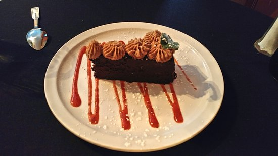 Michael J's Italian Restaurant: Chocolate Torte with Chocolate Whipped Cream