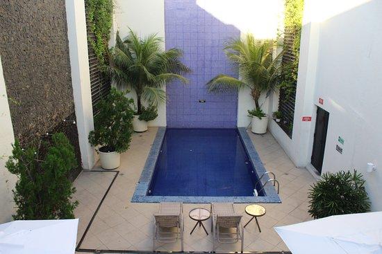 Visão da  piscina vista de cima