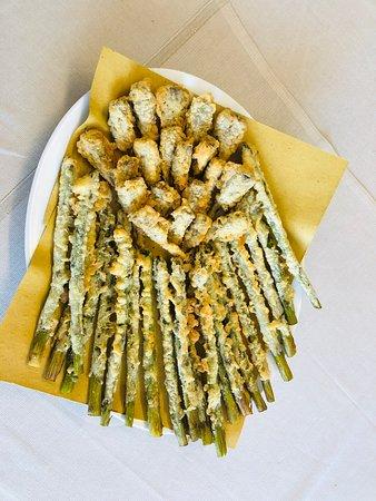 Castraure e asparagi fritti