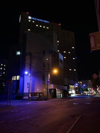 札幌エクセルホテル東急:外景(夜)