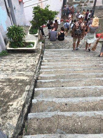När man står högst upp undrar man vad som är märkvärdigt med denna trappa. Tills man vänder sig om och ser den nerifrån