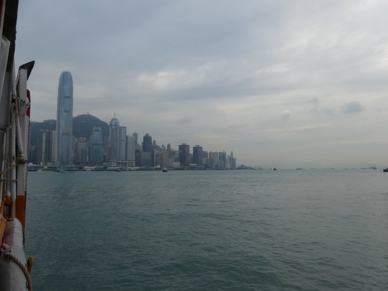 The view of the Central and Sheung Wan districts from Star Ferry