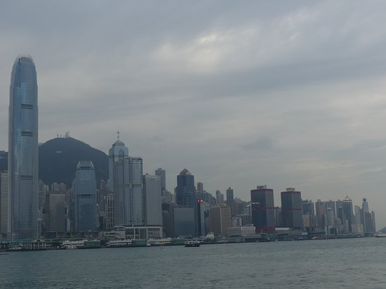 The view of Central and Sheung Wan Districts from Star Ferry