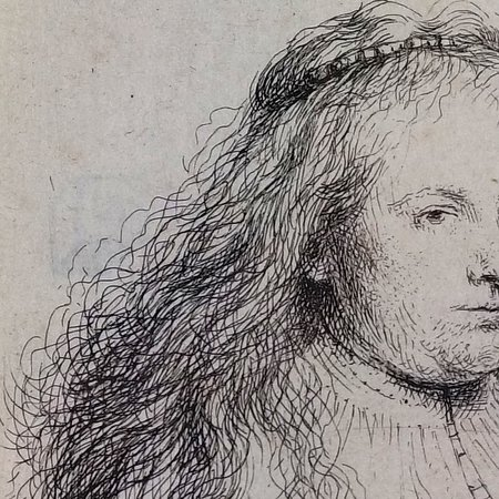 Saskia as St. Catherine by Rembrandt One of the many fine prints on view at the ZMA.