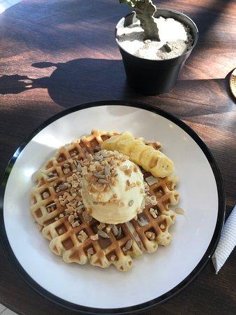 Just okay, dry waffle.