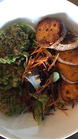 Hoofdgerecht: broccoli met doperwten en pompoenschijven