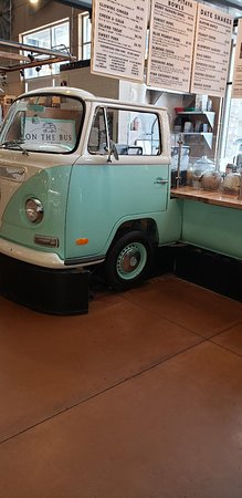 Milwaukee Public Market: Coffees! VW bus bar!