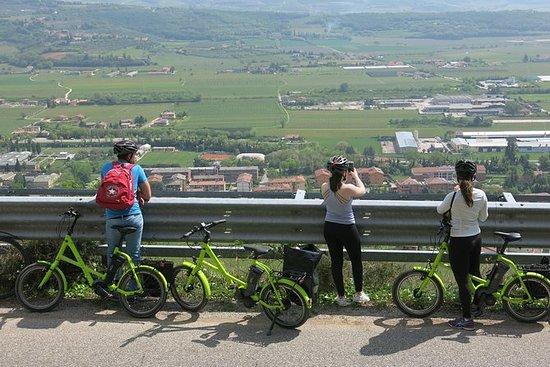 葡萄酒与视图电动自行车之旅