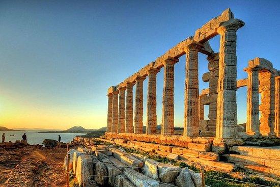 私人海角苏尼奥和波塞冬神庙从雅典出发