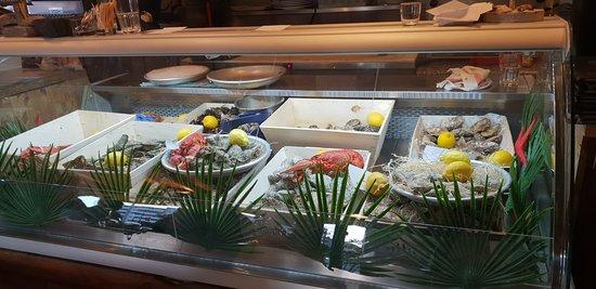 Présentation des fruits de mer