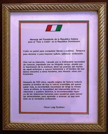 Documento nel padiglione italiano, con la bandiera sbagliata.